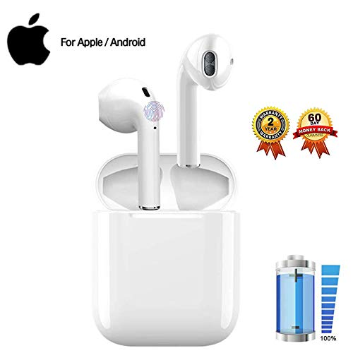 Bluetooth Kopfhörer,In-Ear Kabellose Kopfhörer,Bluetooth Ohrhörer,Sport-3D-Stereo-Kopfhörer,mit 24H Ladekästchen und Integriertem Mikrofon Auto-Pairing Kompatibel mit Android/iPhone/Samsung