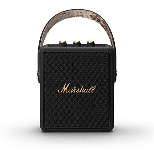Marshall Stockwell II Tragbarer Lautsprecher - Schwarz und Messing ( Exklusiv bei Amazon)