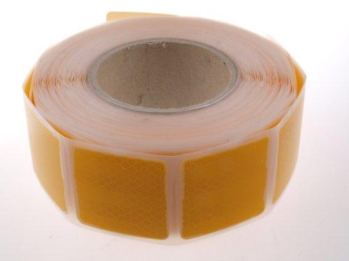 WAMO 1m 3M Reflexfolie Reflexstreifen Konturmarkierung gelb für Planenaufbauten