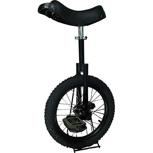 SSZY Einrad 18-Zoll-Geschenk für Kinder/Jugendliche/Anfänger Einräder, Hochleistungsfahrräder mit Alufelge und Rutschfestem Pedal, Fashion Balance Cycling (Color : Black)