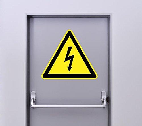 Zone-Stickers Autocollant Signalétique Panneau Danger Electrique - 25cm x 22cm