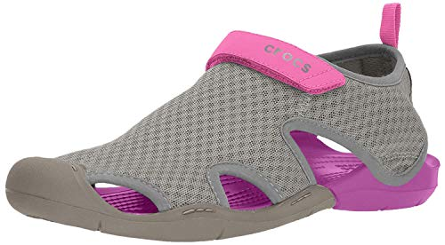 Crocs Swiftwater Mesh Sandals Women, Damen Geschlossene Sandalen, Grau (Smoke), 37/38 EU