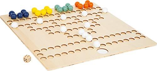 small foot 11786 Barrikade XL aus Holz für 4 Spieler, Gesellschaftsspiel für die ganze Familie im Großformat, 6 Jahren