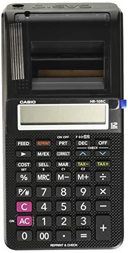 Casio Hr-10Rc-Wa-Ic Sumadora con Pantalla De LCD, Reimpresion De Ticket, Porcetaje Regular