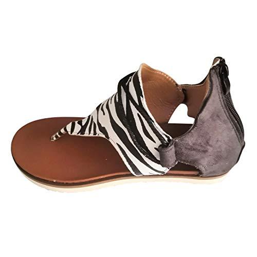 Sandalia de Plataforma con Cuna para Mujer, Comodas, con Imitacion a Madera, y Pala Simple, Primavera Verano 2021 Playa y Piscina