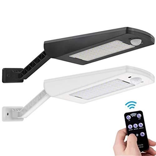 YaoXI wandlamp voor buiten, bewegingssensor, werkt op zonne-energie, wandlamp met afstandsbediening, led voor tuin, veranda, garage, terras, hal, gang