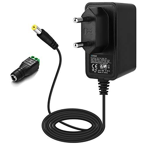 EFISH 12V 1A 12W Trafo liefern Netzteil,Netzstecker für 12V Hausgeräte,CCTV Kamera,Yamaha Keyboard,Router,Hubs,LED-Streifen,Telekom,T-Com,Speedport,Radiowecker,Scanner,Schalter,CE Genehmigt