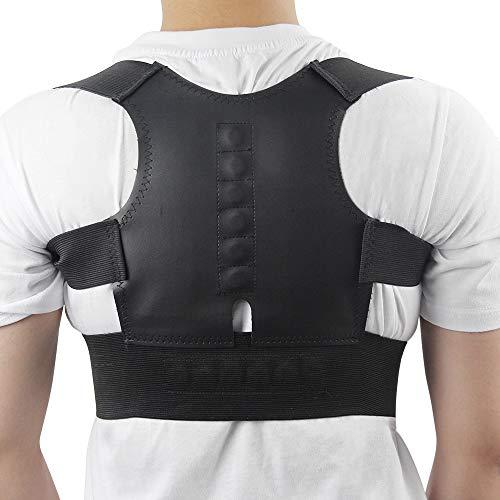 VTTELLYP Postura per Cintura per Corsetto per Spalla Regolabile con Supporto per Correttore di Postura Magnetica per Terapia Regolabile