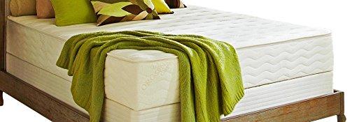 "PlushBeds Botanical Bliss Organic Latex Mattress, Split Queen 9"" Medium-Firm, Joma Wool, Organic Cotton"