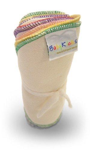 BabyKicks Natural & Organic 10 Pack Baby Wipes, Assortment