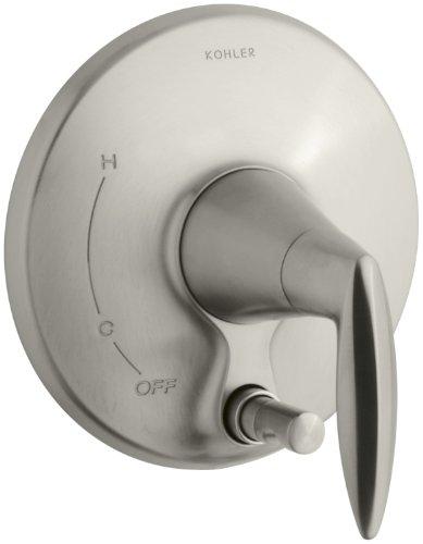 KOHLER K-T45112-4-BN Alteo Valve Trim with Push-Button Diverter, Valve Not Included, Vibrant Brushed Nickel