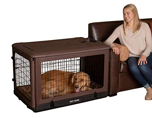 "Pet Gear PG5942BCH ""The Other Door"" 4 Door Steel Crate with Plush Bed and Travel Bag, 90 lb, 42 inch, Chocolate (PG5942BCHA)"