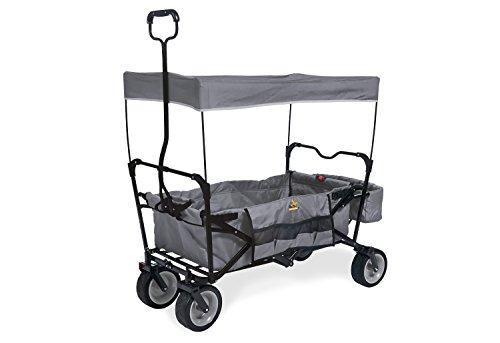 Pinolino Klappbollerwagen Paxi, faltbar, inkl. Sonnendach, Hecktasche und Tragetasche, PU-Bereifung, Tragfähigkeit 70 kg, grau