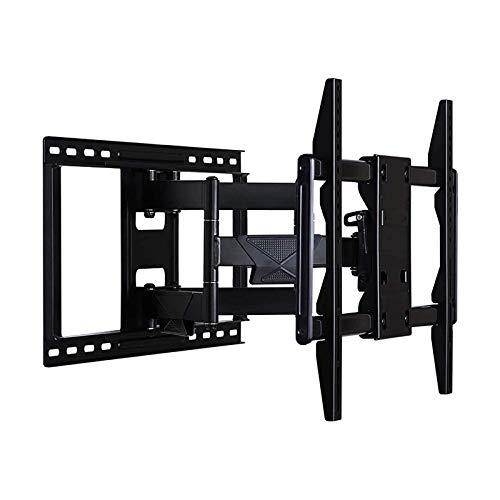 YLB Montajes de pared de TV Movimiento completo Giratorio Articulando Tild TV Montaje de pared Soporte para la mayoría de los televisores de 42-84 pulgadas de hasta 68kg VESA 600x400mm con inclinación