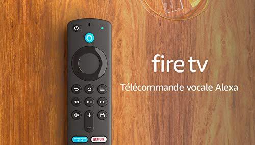 Télécommande vocale Alexa (3e génération) pour Fire TV, avec boutons de contrôle de la TV, Appareil Fire TV compatible requis, Modèle 2021