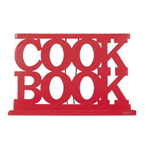 Contento 672141 George Support Livre/Tablette Plastique Rouge 29,5 x 20 x 6 cm