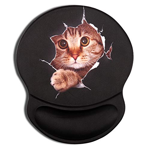 AOKSUNOVA Mauspad Mousepad mit Handauflage Ergonomisch Mauspad mit Handgelenkauflage Katze