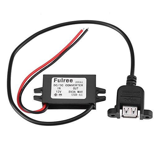 15 Watt Micro USB Converter Spanning Step Down Controller DC-DC 12 V naar 5 V 3 A voor auto met vrouwelijke Panel Mount USB