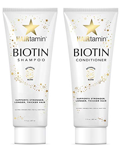 Amazon Black Friday Deals 2018 - Hairtamin Hair Growth Shampoo and Conditioner Set - Paraben & Sulfate Free, Volumizing & Moisturizing, Best Natural Shampoos and Conditioners, Gentle Moisturizer
