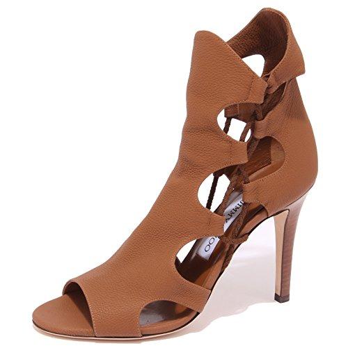 0955Q Sandalo JIMMY CHOO Lucky Cuoio Scarpa Donna Sandal Woman