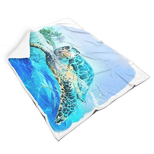 Rinvyintte Tier-Chic, farblose Plüsch-Decke für Schlafzimmer, Mikrofaser, für Erwachsene, Familien-Stil, weiß, 50x60 inch