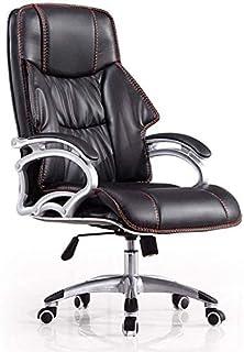 HIZLJJ Ejecutivo giratoria ajustable silla giratoria de oficina Silla con apoyabrazos Ejecutivo soporte lumbar escritorio silla ergonómica con respaldo alto Silla giratoria de computadores de acero in