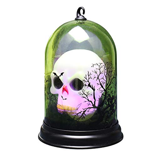 niumanery Halloween Cat Pumpkin Witch Candle Night Light Lamp Haunted House Party Decor 2#
