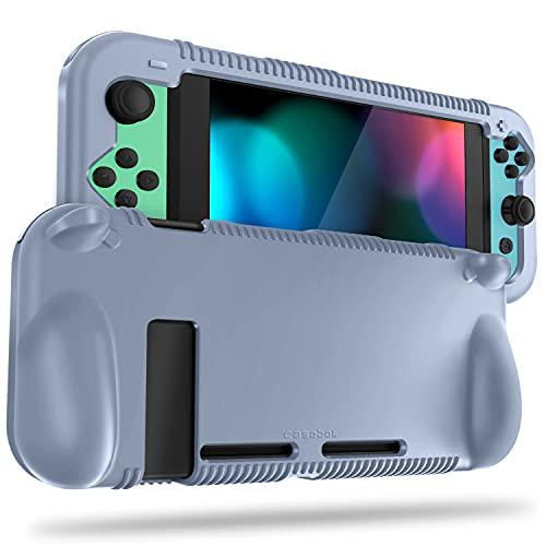 FINTIE Silikon-Schutzhülle kompatibel mit Schalter, weiche [Anti-Rutsch] [stoßfest] Schutzhülle mit ergonomischem Griff-Design, Fallschutz Grip Case (wolkig blau)