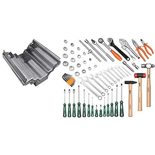 Caixa Sanfonada Em Aço Inox Com Ferramentas 65 Pçs Tramontina 44952165
