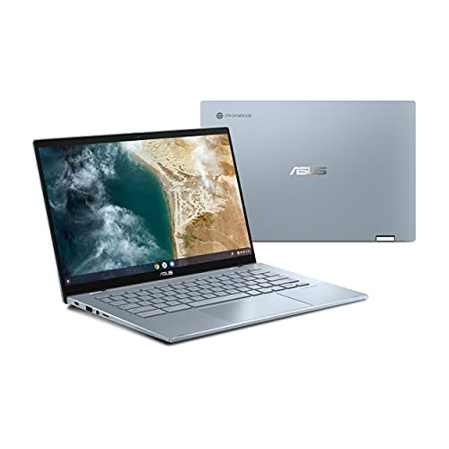 "ASUS Chromebook Flip CX5, 14"" Touchscreen FHD NanoEdge Display, Intel Core i3-1110G4 Processor, 128GB SSD, 8GB RAM, Stylus, Backlit Keyboard, Wi-Fi 6, Chrome OS, Aluminum, AI Blue, CX5400FMA-DN388T-S"