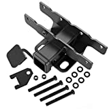 Sulythw Hitch & Cover Kit Compatible with 2018-2020 Jeep Wrangler JL/JLU 2 Door & 4 Door (Excl 2018 JK Models) Factory Style 2 inch Rear Receiver Hitch Tow Towing Trailer Hitch