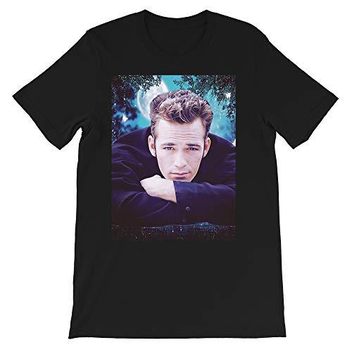 Luke Perry Beverly Hills 90210 Shannen Doherty 90sTv Riverdale Rip Graphics Gift Men's Women's Girls Unisex T-Shirt (Black-4XL)