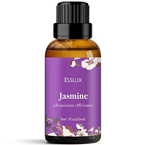 ESSLUX Olio Essenziale di Gelsomino, Oli Essenziali per Diffusore, Massaggio, Sapone, Candele, Profumo, 30 ml