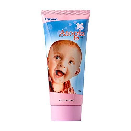 Atogla Baby Cream | For Soft Skin | Recommended by Doctors | Protects Against Rashes and Prevents Skin Irritation, 100g