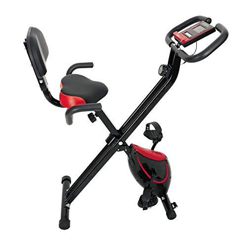 HLeoz Vélo d'appartement Pliable avec Dossier, 8 résistances manuelles | Cardiofréquencemètre Poids Maximum...
