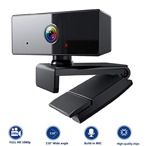 ZKCREATION Webcam - Webcam PC para Ordenador Cámara Web Full HD 1080P con micrófono, computadora portátil PC Webcam de Escritorio USB 2.0 Webcam para videollamadas, Estudios, conferencias, grabación