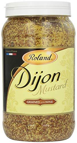 Roland Dijon Mustard, Grained with Wine, 4.6 Pound