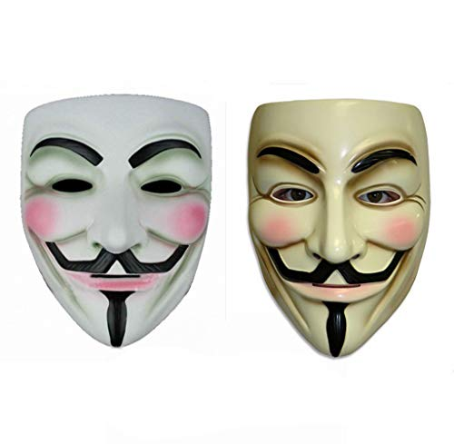 Gmasking V for Vendetta Guy Fawkes Anonymous Mask 2 Pieces