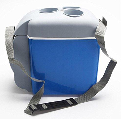 AMYMGLL Réfrigérateur portable portable de 7.5 litres réfrigéré frais et chaud avec une tension de porte-tasse 12V voiture 220V famille de puissance 65 (W) poids 2.2kg taille 32 * 30 * 7.3 * cm