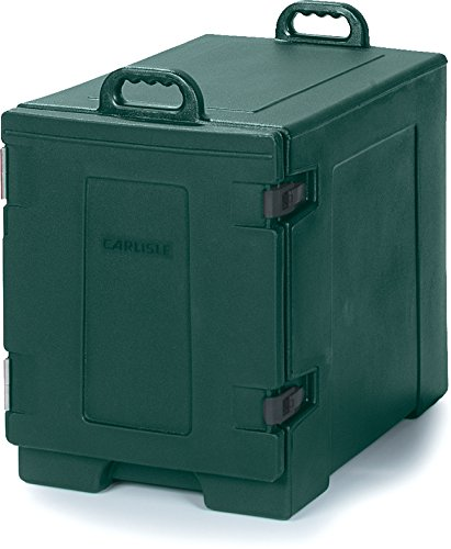 Carlisle PC300N08 Cateraide End-Loading Insulated Food Pan Carrier, 5 Pan Capacity, Forest Green