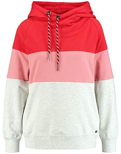 Taifun Damen Sweatshirt Mit Colour-Blocking-Design Leger Fog Melange XXL