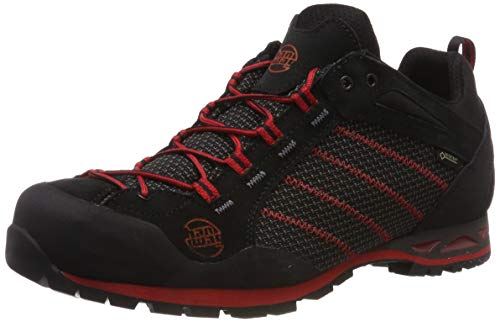 Hanwag Makra Low GTX, Chaussures d'escalade Homme, Multicolore (Schwarz_Black 12), 45 EU
