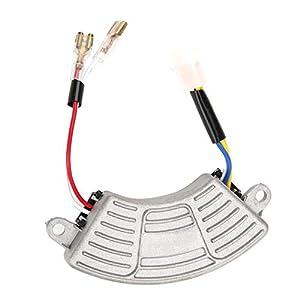 Regulador de voltaje del generador, 100VDC AVR Regulador de voltaje automático Generador Estabilizador de voltaje en forma de arco para generador de gasolina monofásico de 3.5KW-5KW