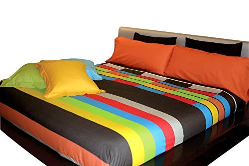 Juego de sábanas estampado Rayas OSLO (para cama de 90x190/200)