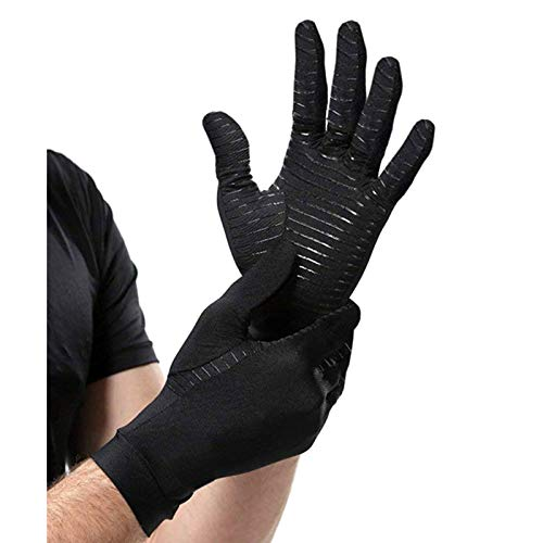Full Finger Arthritis Gloves   Highest Copper Content Guaranteed   Copper Gloves Best Copper Infused Glove for Carpal Tunnel, Typing, Fit for Men & Women