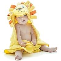 Little Tinkers World Toalla de bebé con capucha de león EXTRA SUAVE - Toalla de baño para bebé 100% algodón - Perfecta para bañar a tu bebé - Para recién nacidos y bebés