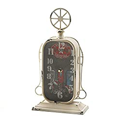 NYW Tabletop Clock Gas Station Fuel Pump Shelf Rustic Primitive Distressed Country