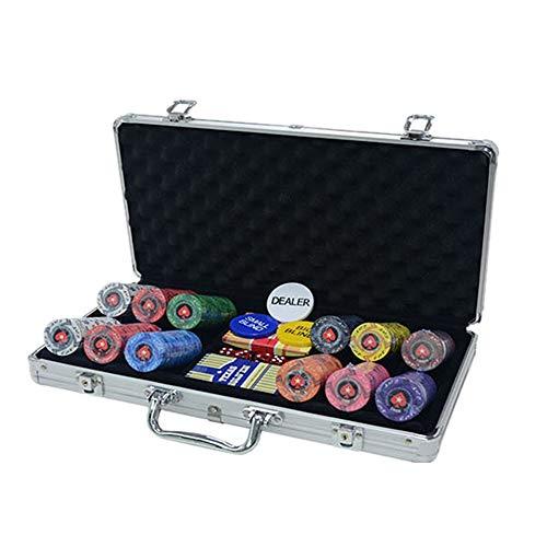 HUDEMR Fichas Poker Corazón de cerámica Tiene la Moneda de la viruta un Valor Nominal de ajedrez de la viruta de cerámica de fichas de Juego de la viruta fichas (Color : Silver, Size : 200 Yards)