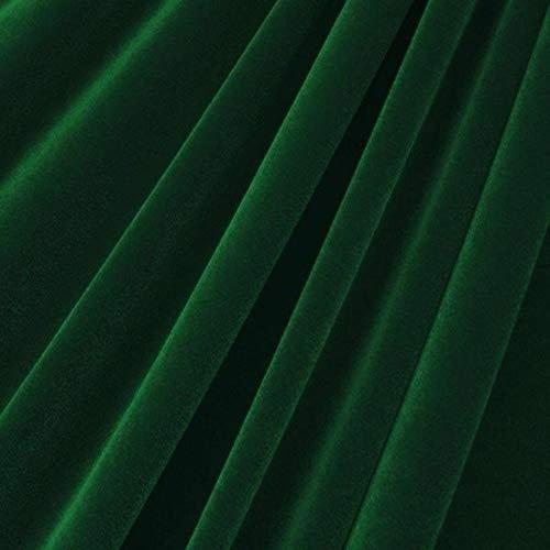 "Fashion Fabrics Hunter Green Velvet Flocking Drapery Upholstery Fabric - Sold By The Yard - 60"""