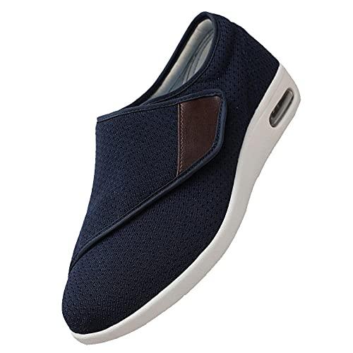 Sandalias Mujer Hombre Zapatillas,Ajustable Edema Zapatos hinchados Extra Ancha Zapatillas Adulto-Unisex,D-38